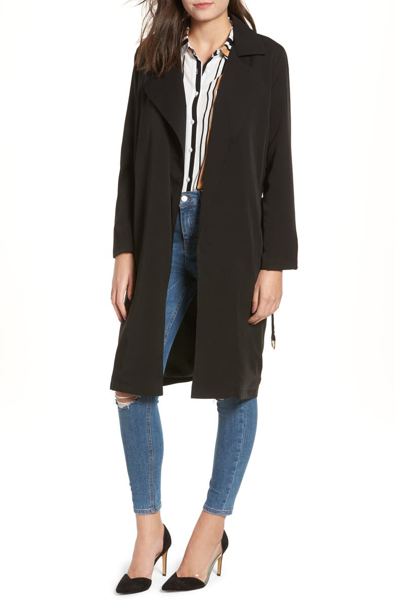 LIRA CLOTHING Carmen Belted Trench Coat, Main, color, 001