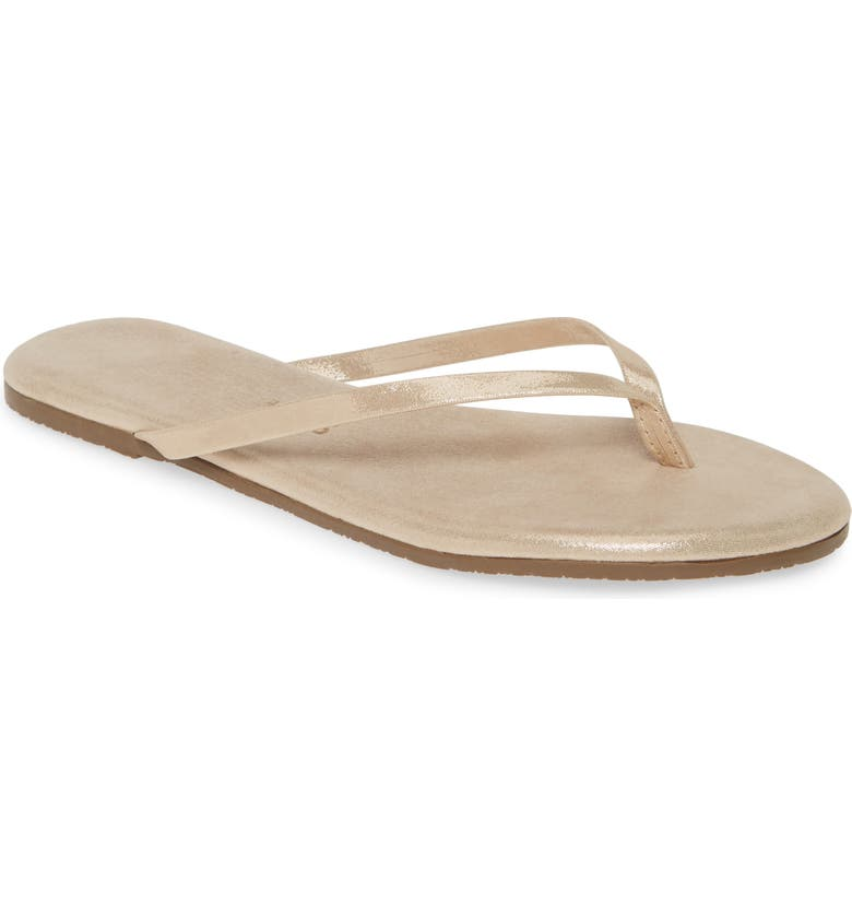 TKEES 'Glitters' Flip Flop, Main, color, GLEAM LEATHER