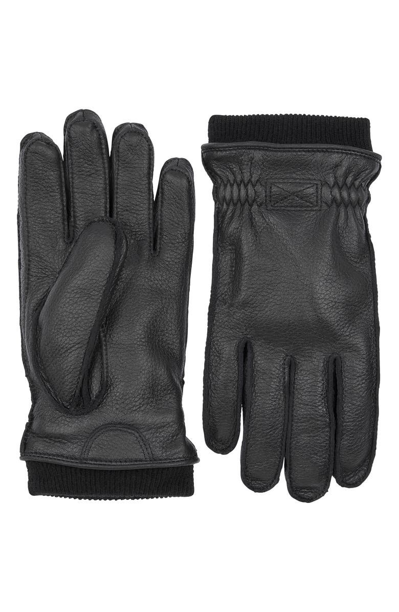 HESTRA Malte Insulated Leather Gloves, Main, color, 001