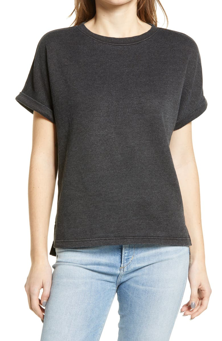 CASLON<SUP>®</SUP> Dolman Sleeve French Terry T-Shirt, Main, color, 001