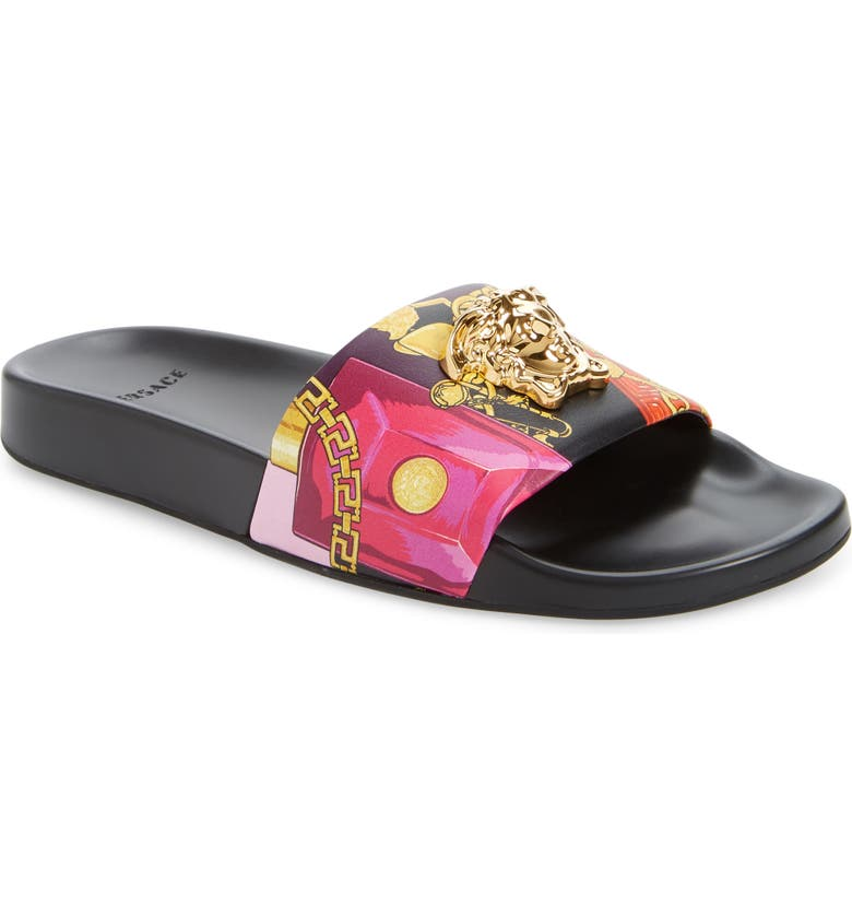 VERSACE Medusa Pool Slide Sandal, Main, color, 002