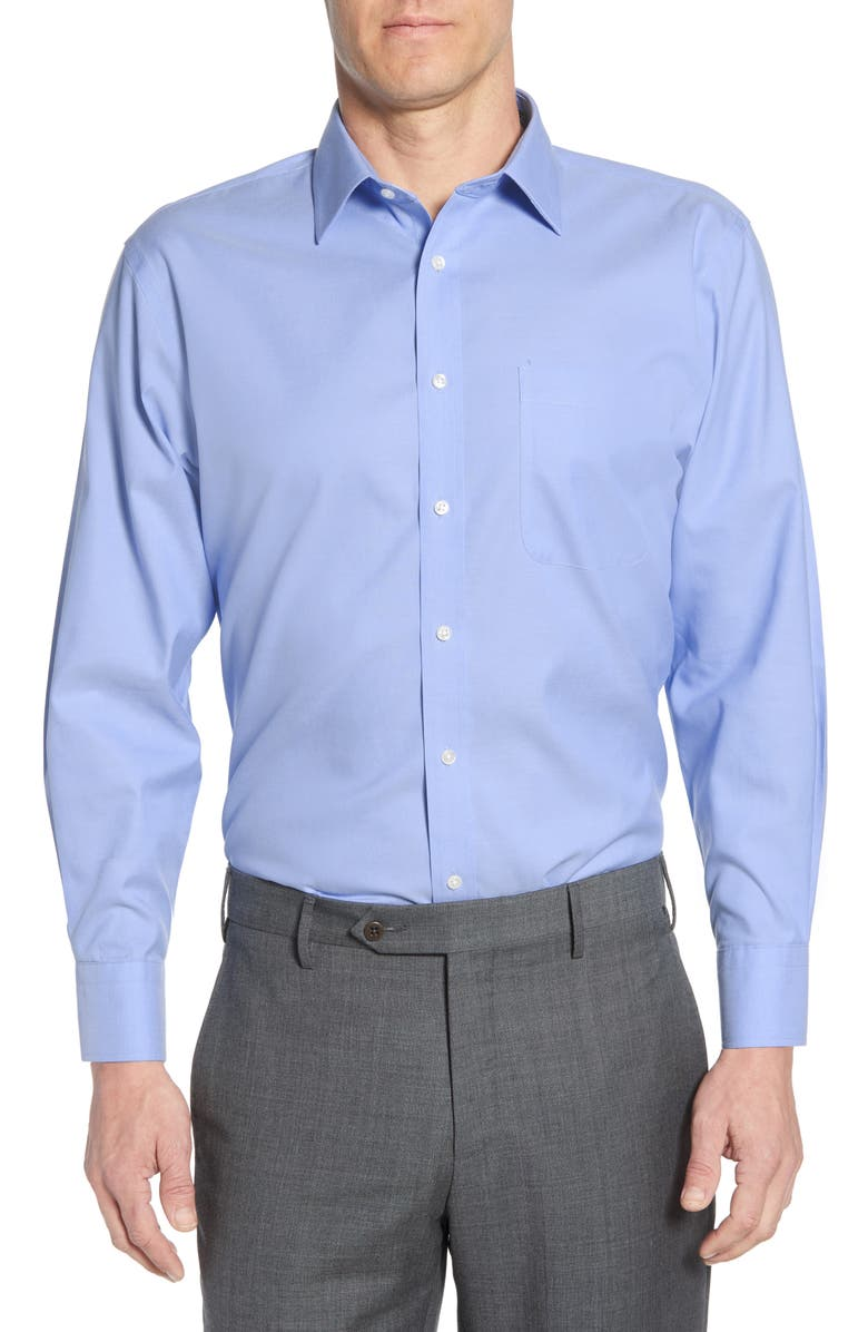 NORDSTROM Smartcare<sup>™</sup> Traditional Fit Dress Shirt, Main, color, BLUE HYDRANGEA