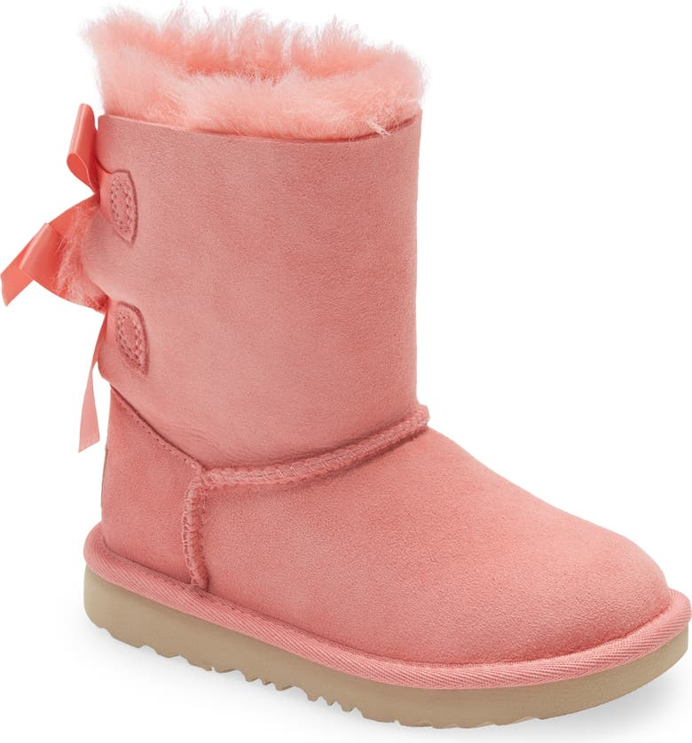UGG<SUP>®</SUP> Bailey Bow II Genuine Shearing Boot, Main, color, PINK BLOSSOM