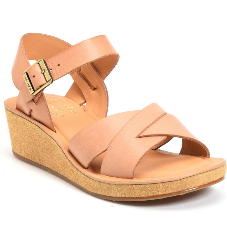 KORK-EASE<SUP>®</SUP> 'Myrna 2.0' Cork Wedge Sandal, Main, color, NATURAL