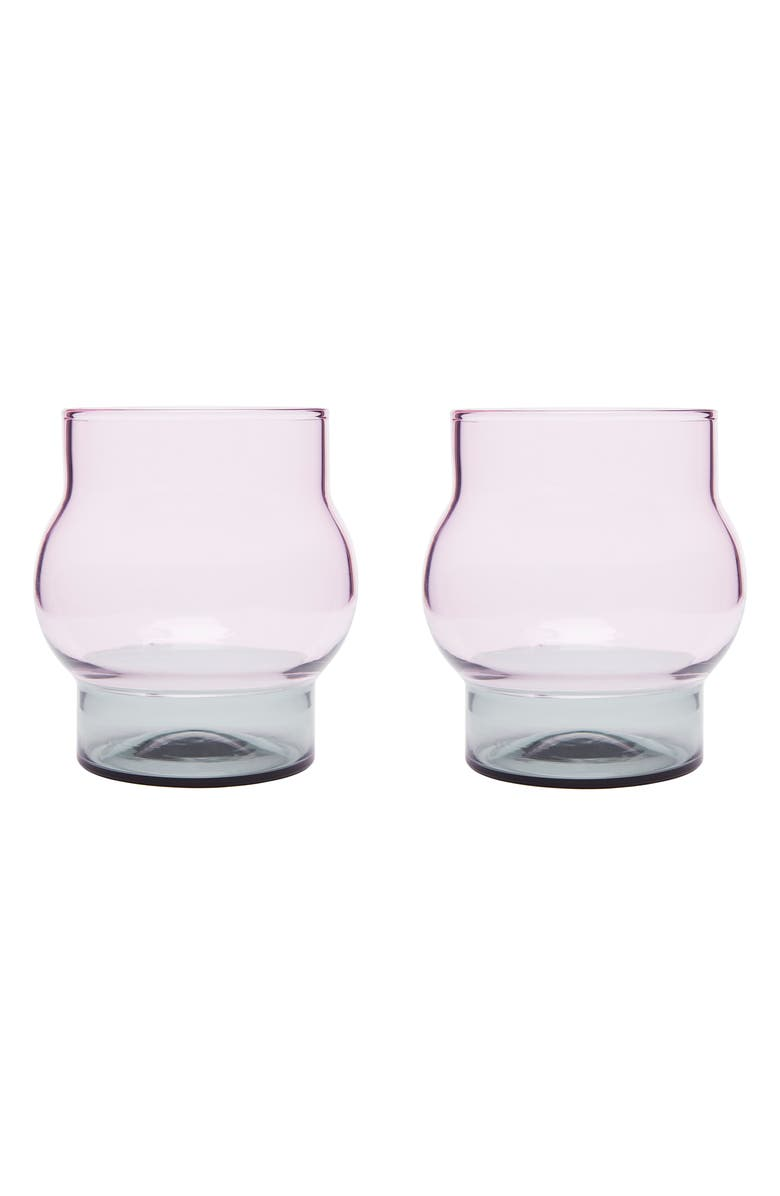TOM DIXON Bump Set of 2 Short Glasses, Main, color, 650