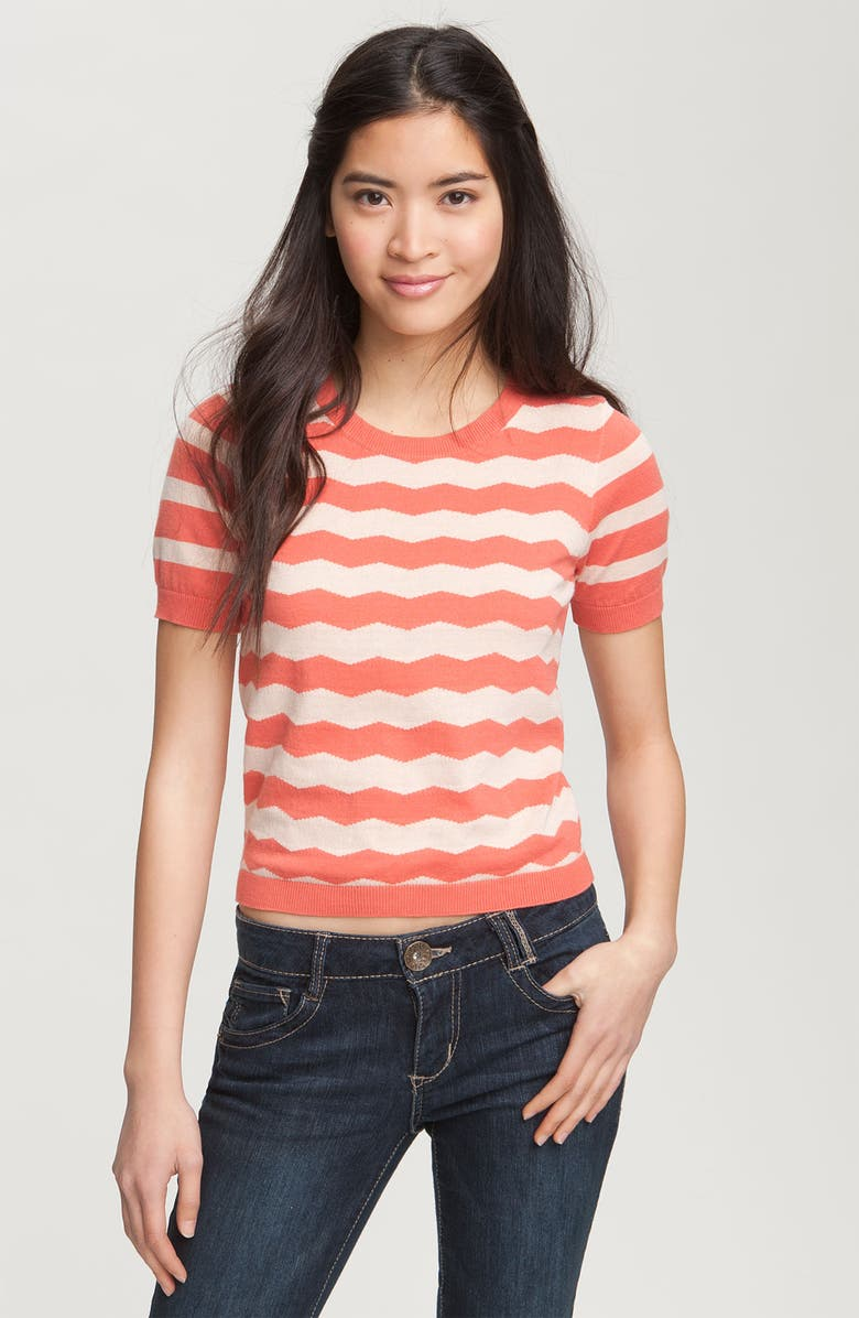 RUBBISH<SUP>®</SUP> Twin Stripe Short Sleeve Sweater, Main, color, 220