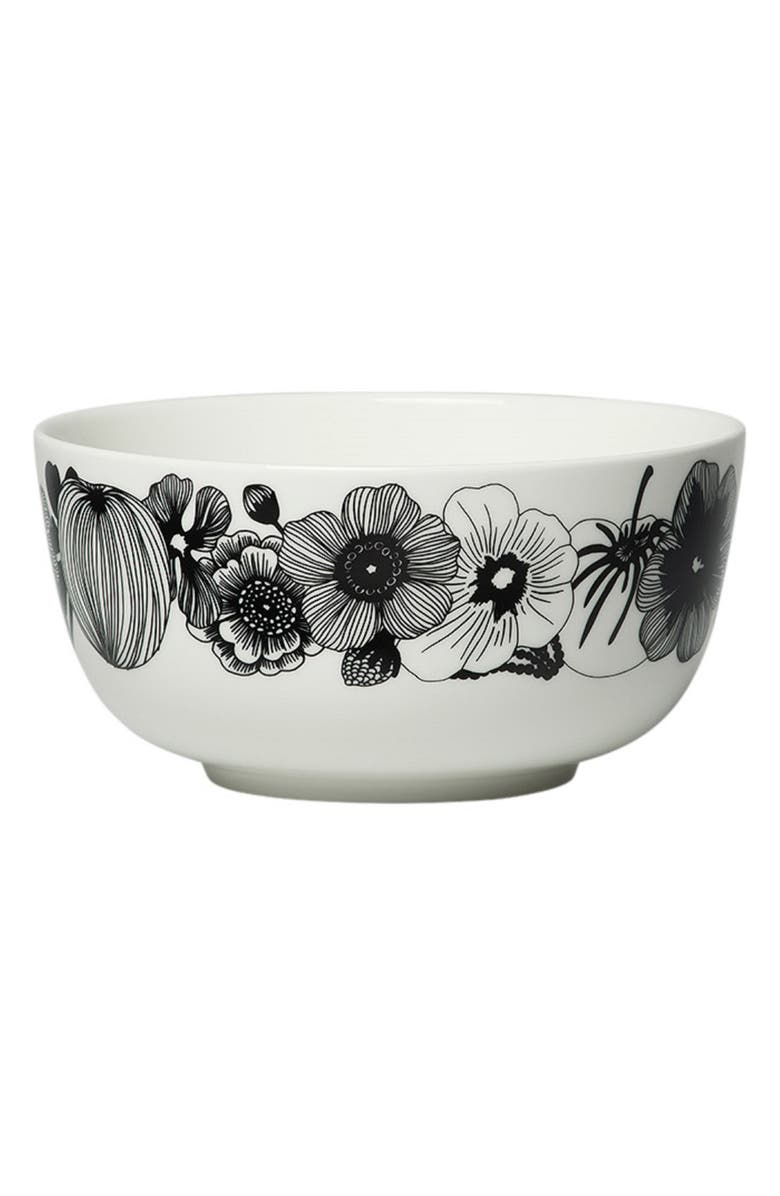 MARIMEKKO Oiva Siirtolapuutarha Bowl, Main, color, BLACK/ WHITE