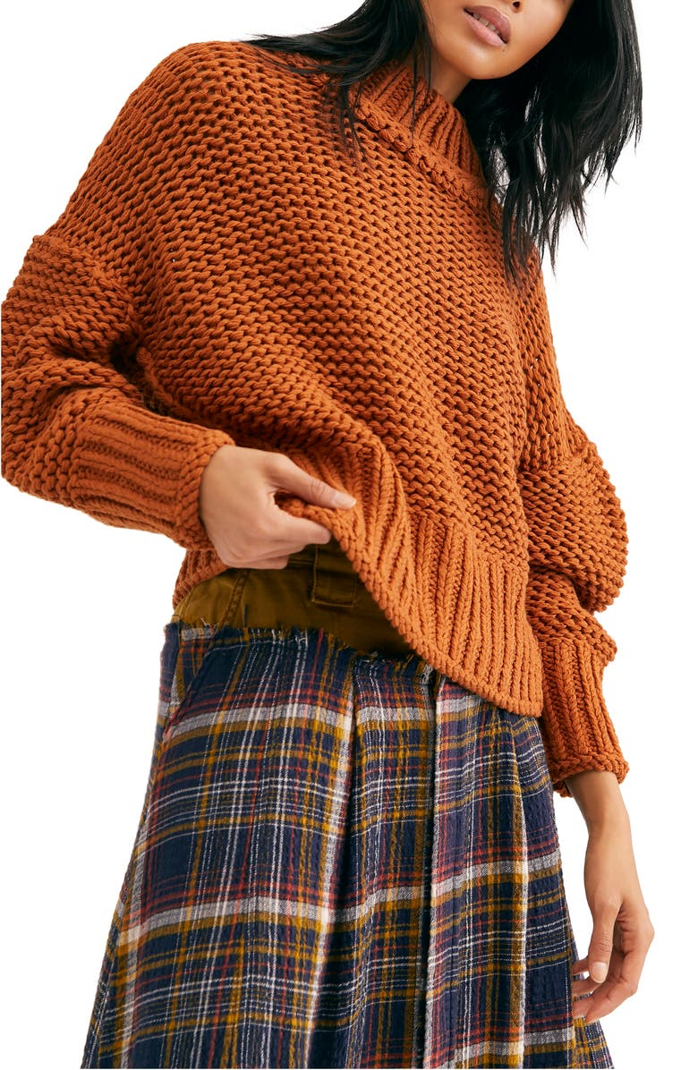 FREE PEOPLE My Only Sunshine Sweater, Main, color, TUSCAN EARTH