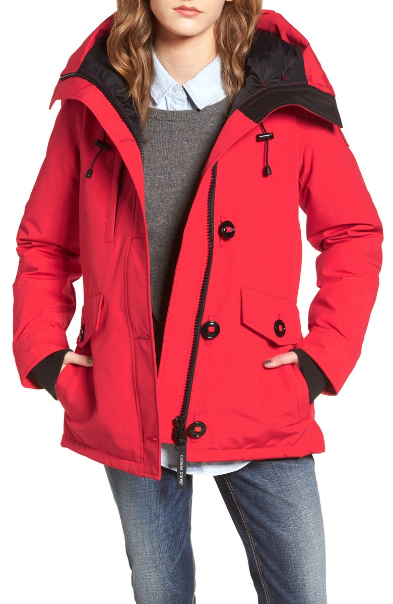 CANADA GOOSE 'Rideau' Slim Fit Down Parka, Main, color, RED