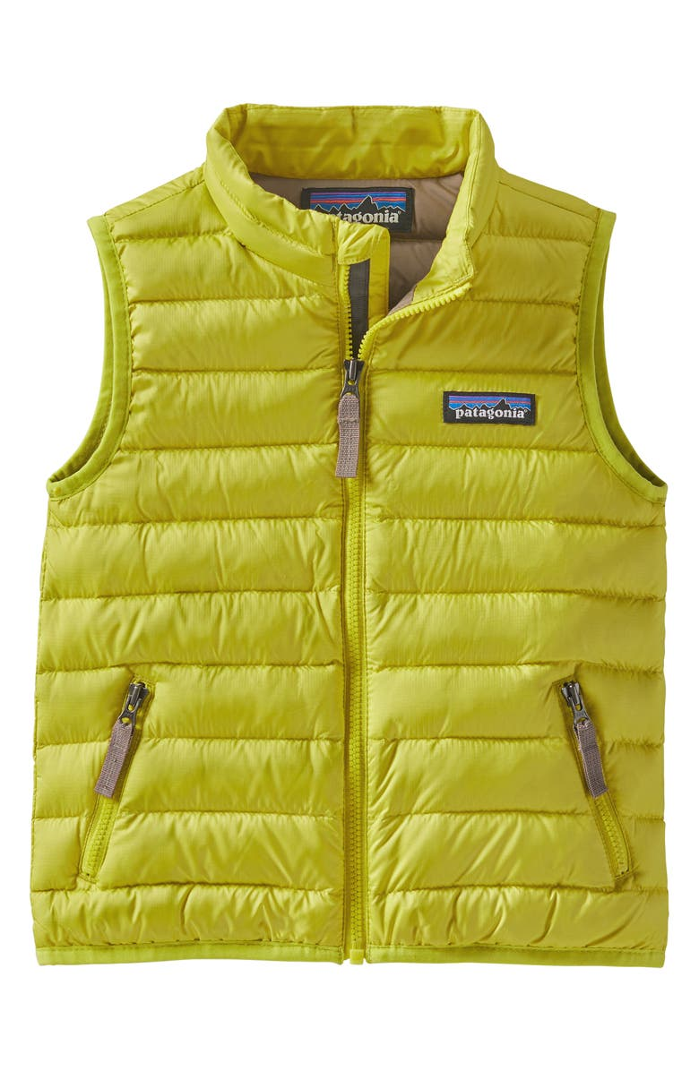 PATAGONIA Windproof & Water Resistant Down Sweater Vest, Main, color, CHARTREUSE