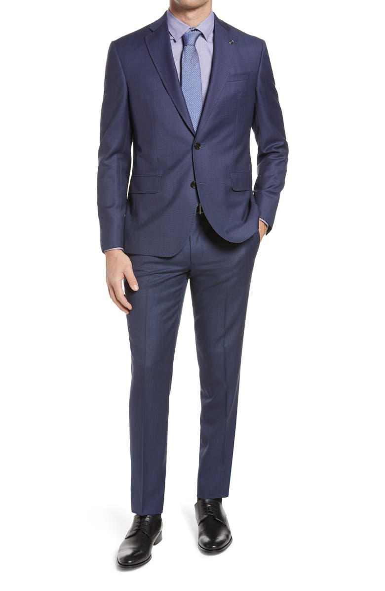 TED BAKER LONDON Roger Slim Fit Solid Wool Suit, Main, color, 400