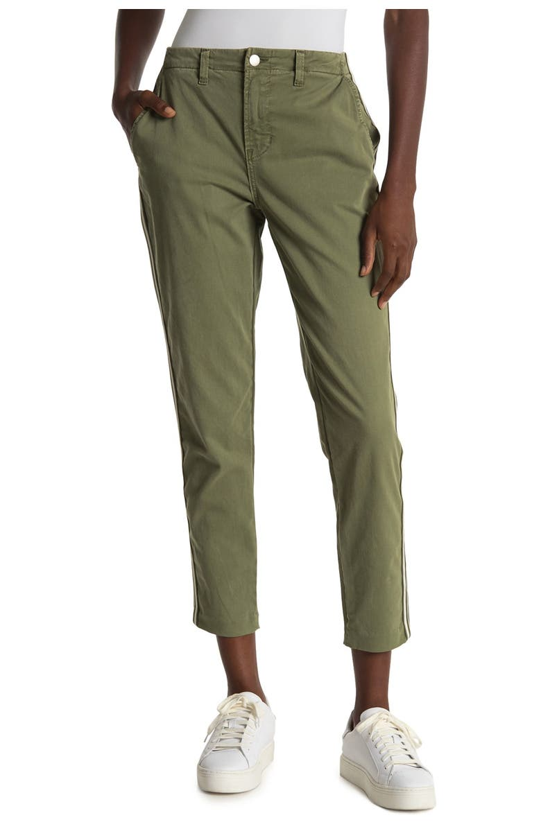 LAGENCE Jem Side Tape High Rise Trousers, Main, color, BRIGADE