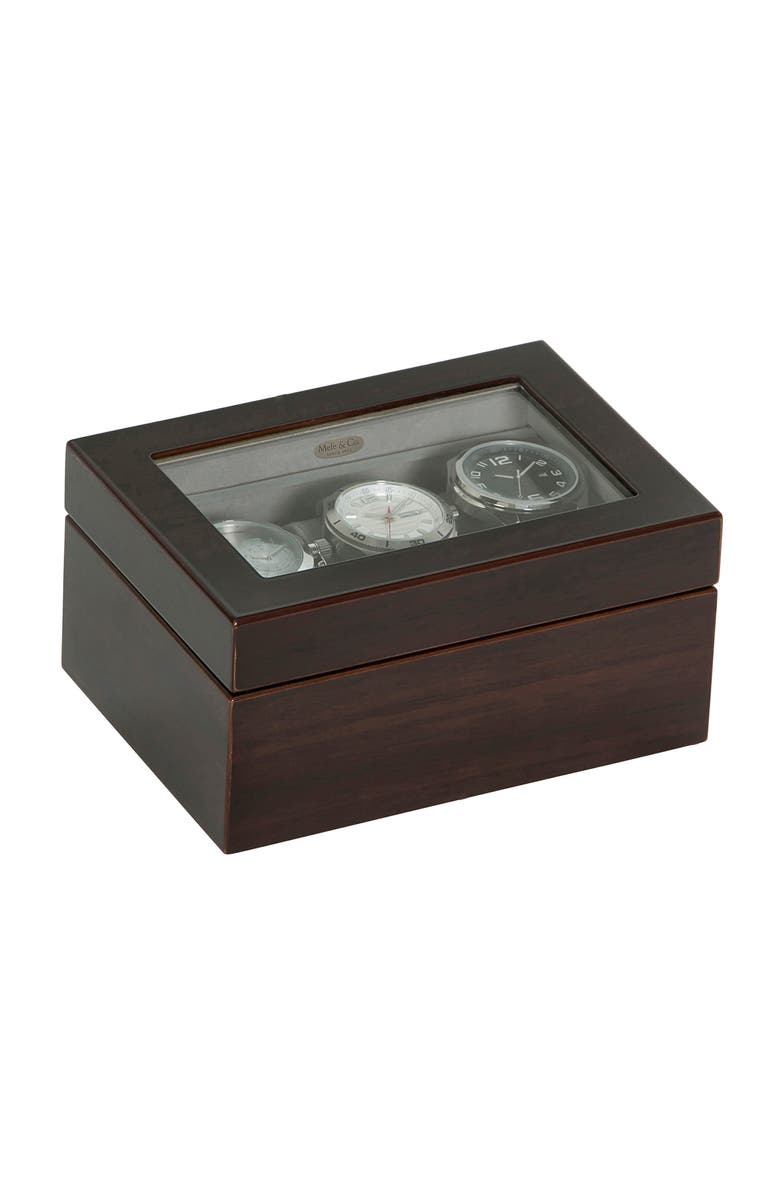 MELE & CO. Granby Glass Top Watch Box, Main, color, 200