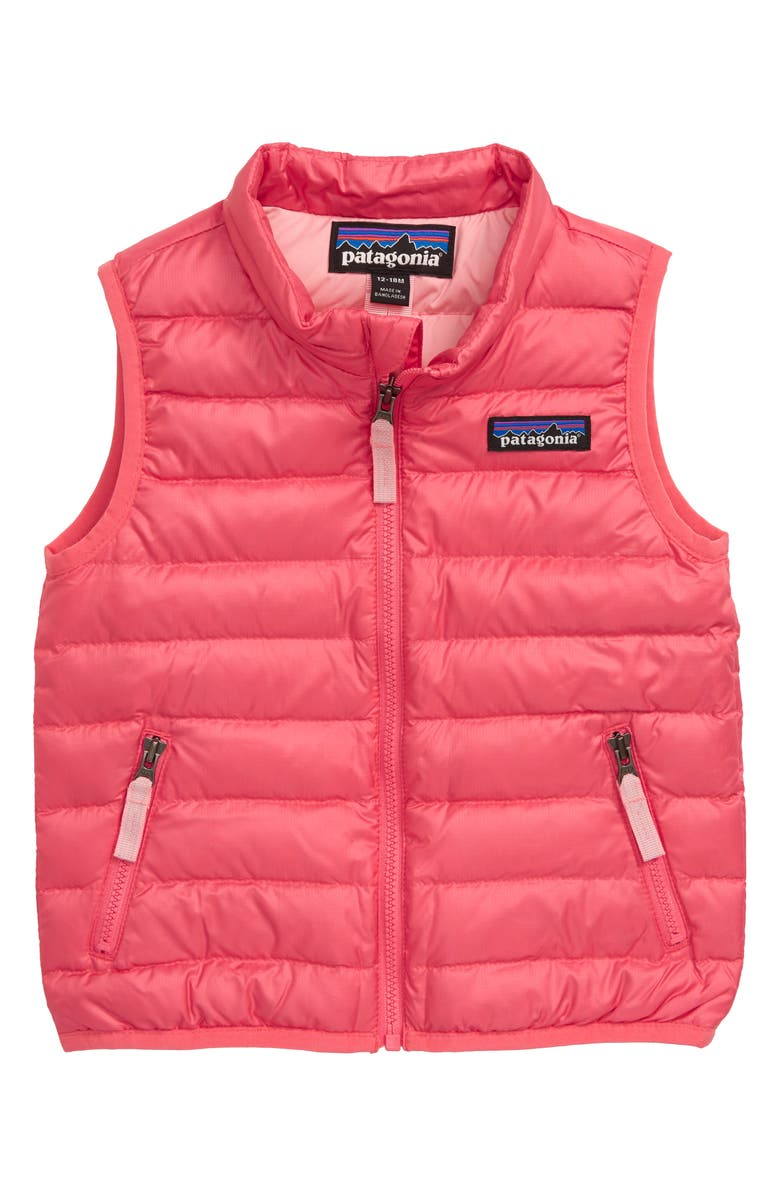PATAGONIA Water Repellent Recycled Down Sweater Vest, Main, color, RAPI RANGE PINK