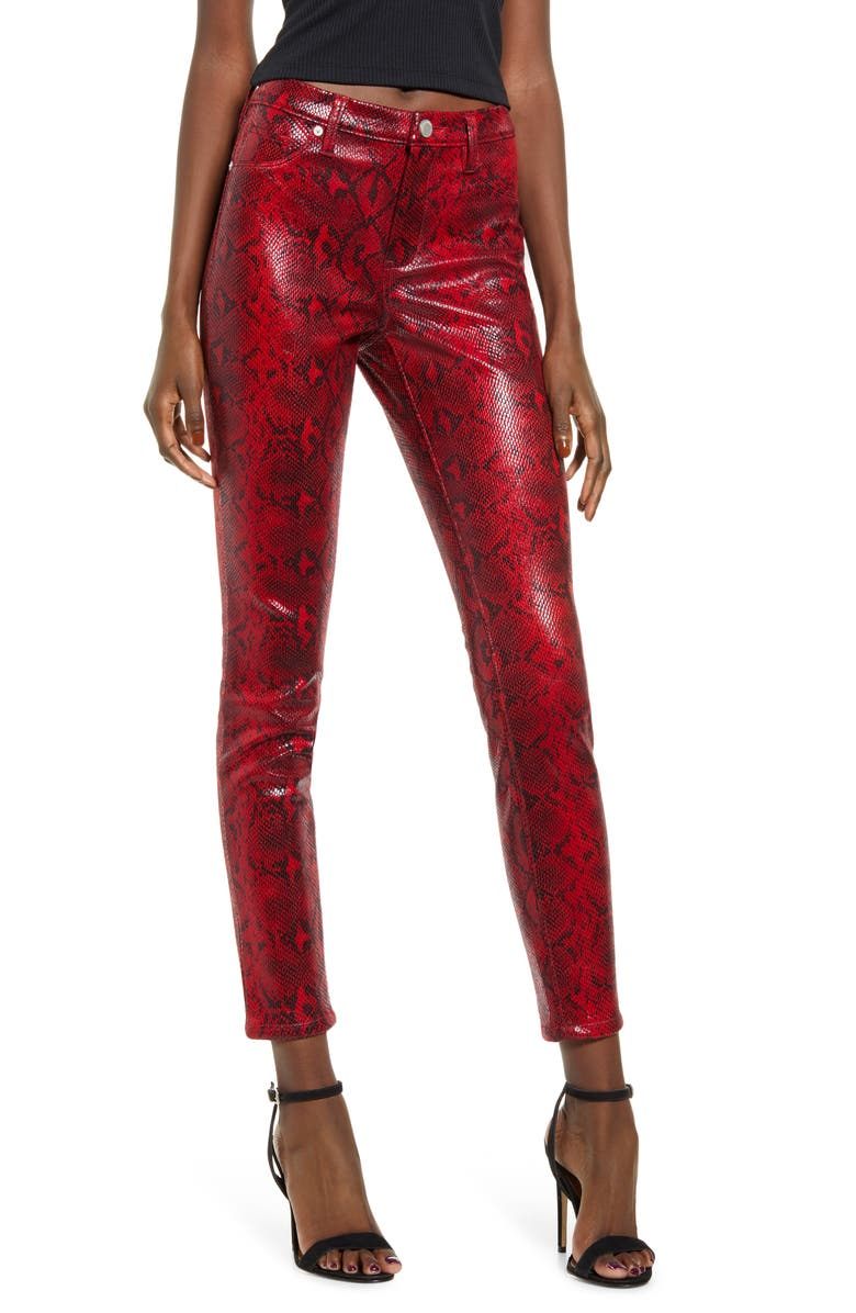 BLANKNYC Faux Python Skinny Pants, Main, color, 600