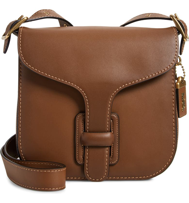 COACH Courier Leather Convertible Bag, Main, color, 201