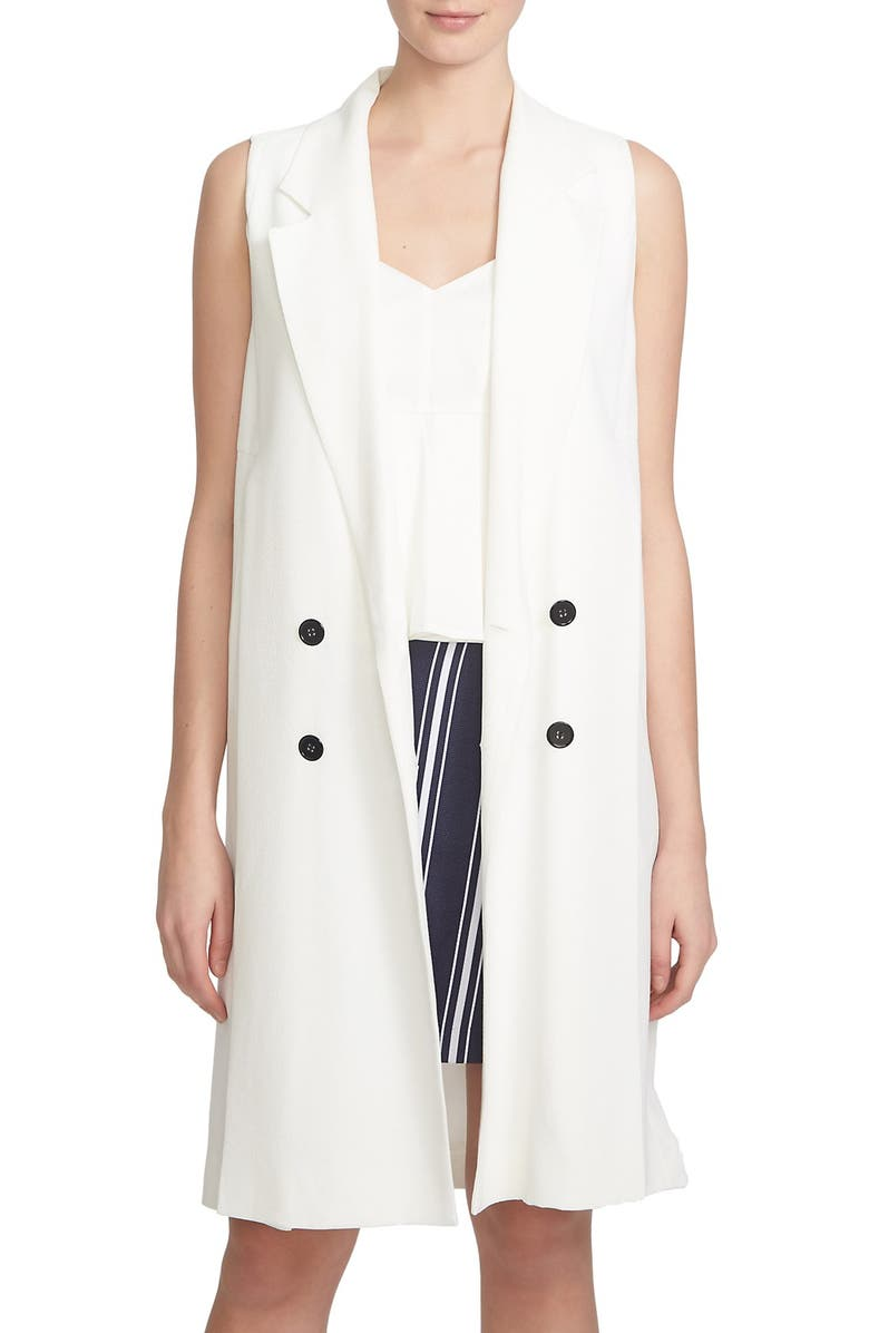 1.STATE Double Breasted Trench Vest, Main, color, CLOUD