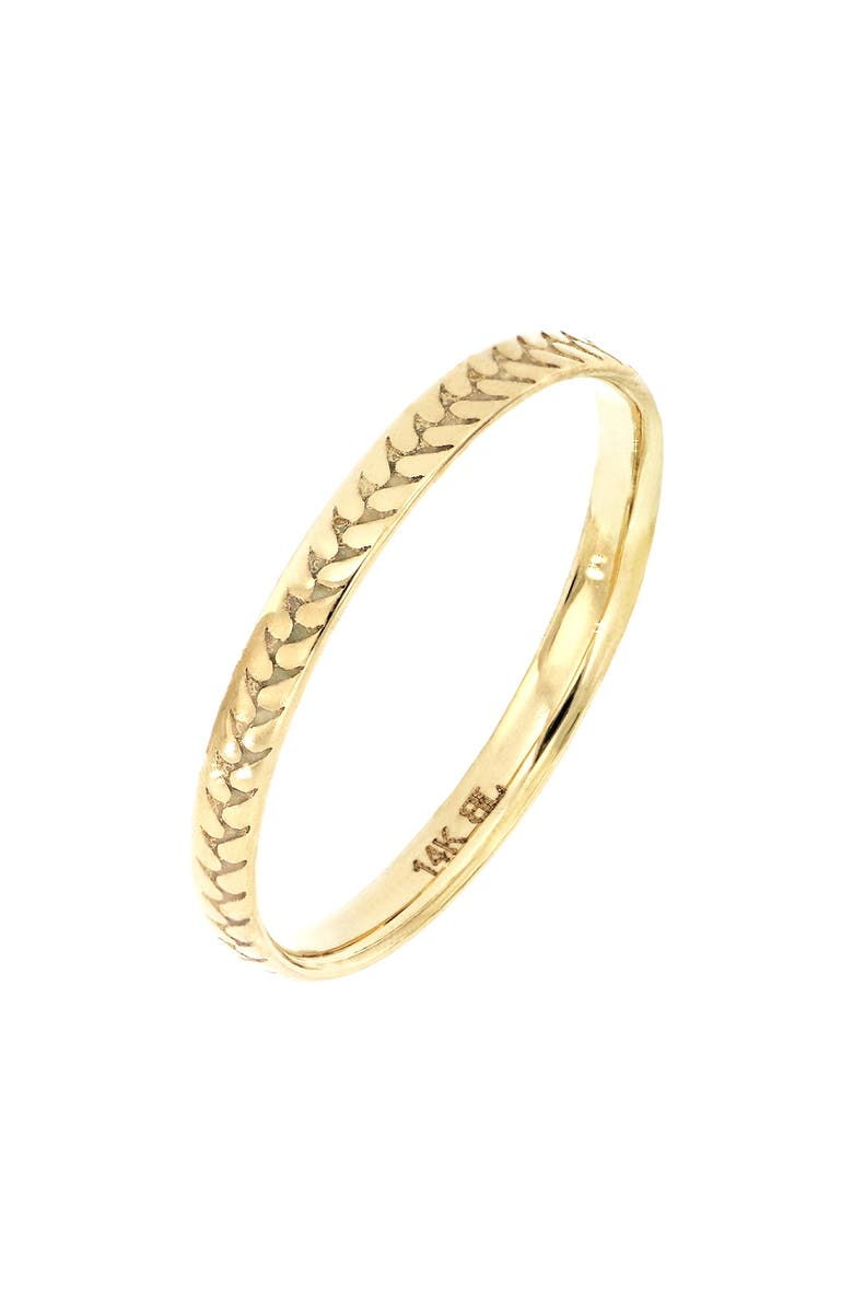 BONY LEVY 14K Gold Getty Ridge Band Ring, Main, color, YELLOW GOLD