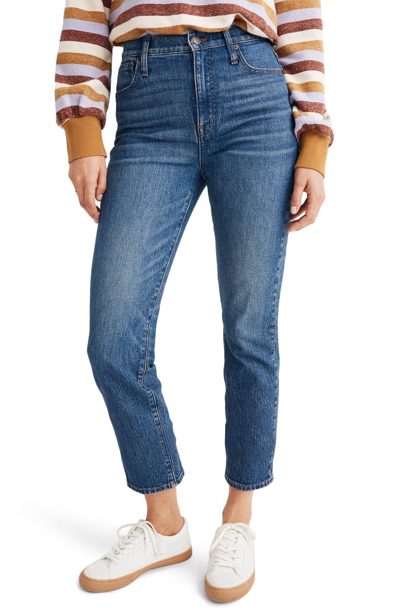 MADEWELL Classic Straight Leg Jeans, Main, color, 400