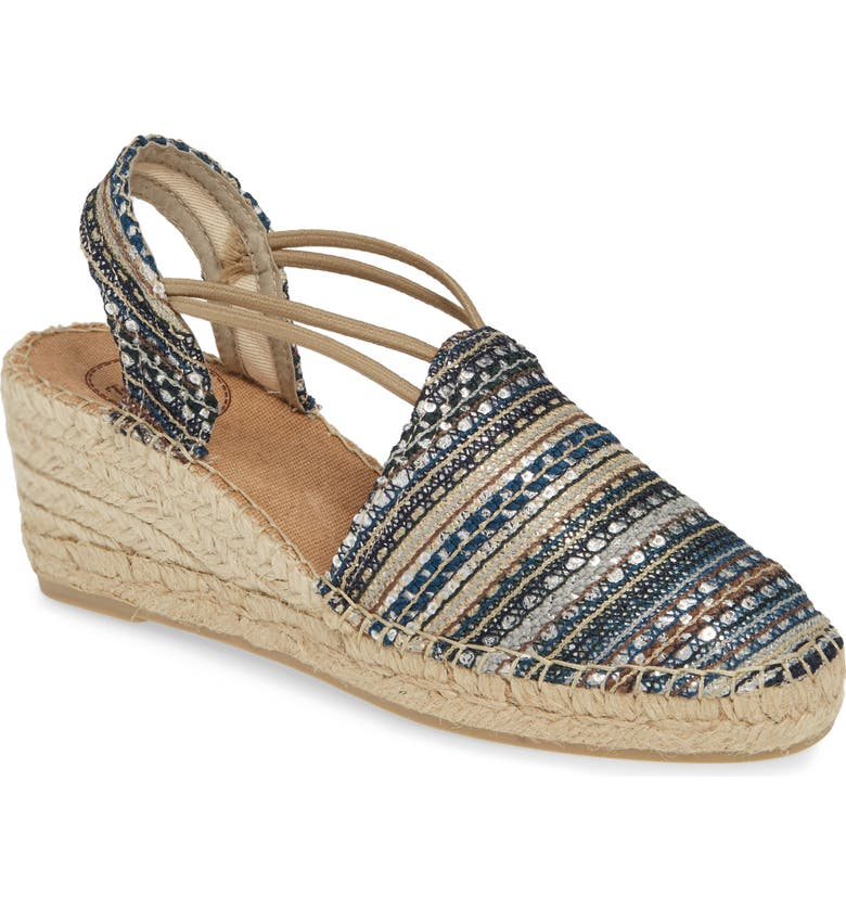TONI PONS Tania Espadrille Wedge, Main, color, TAUPE FABRIC