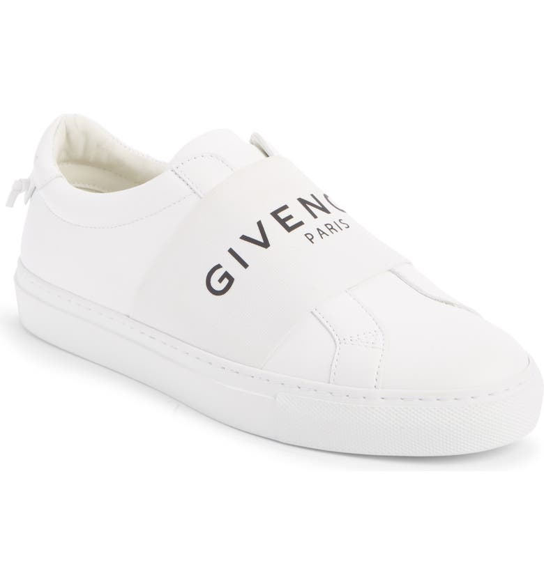 GIVENCHY Urban Street Logo Band Sneaker, Main, color, WHITE