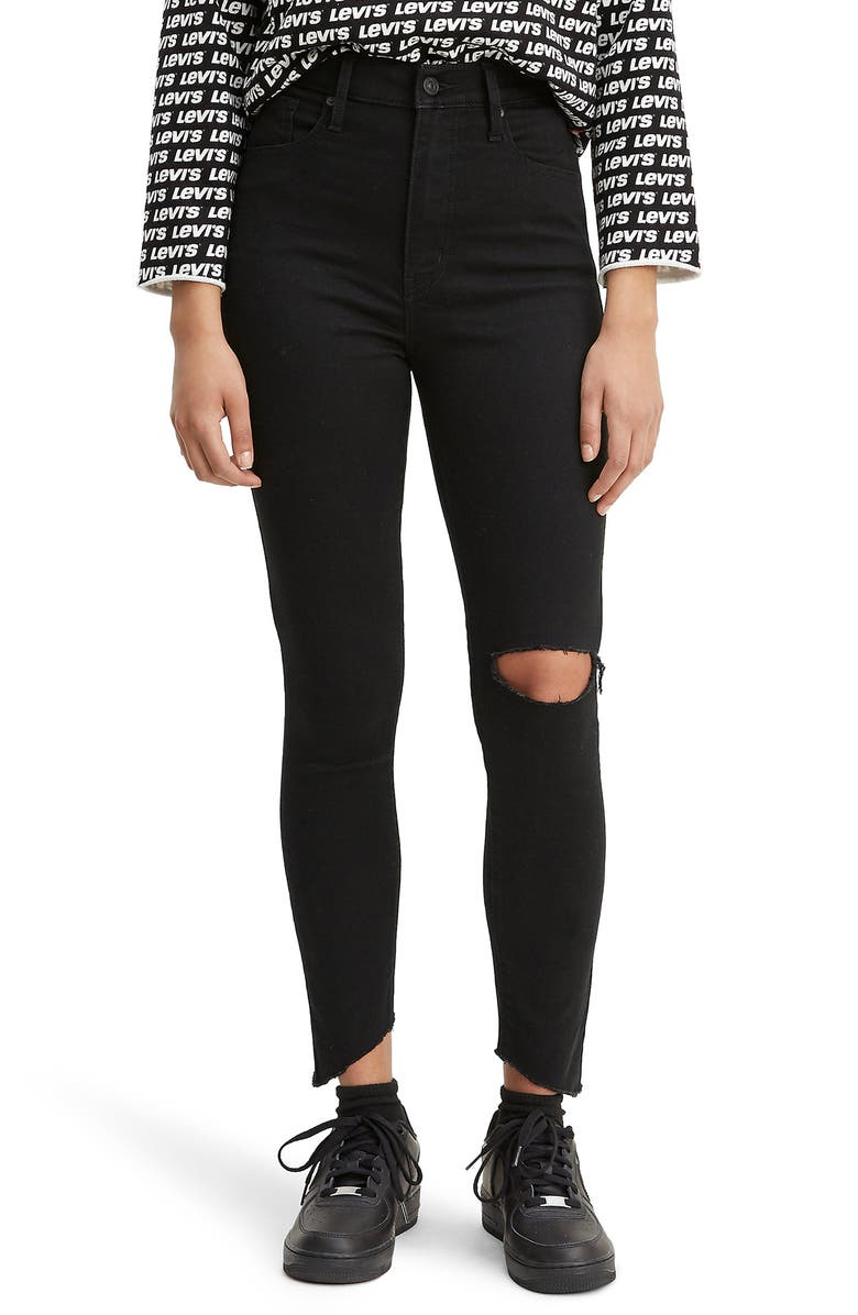 LEVI'S<SUP>®</SUP> Mile High Ripped Super Skinny Jeans, Main, color, 001