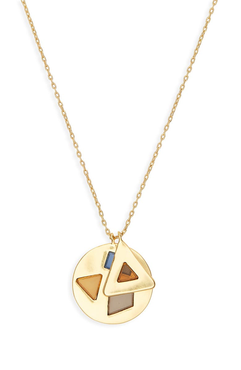 MADEWELL Stained Glass Charm Necklace, Main, color, 500