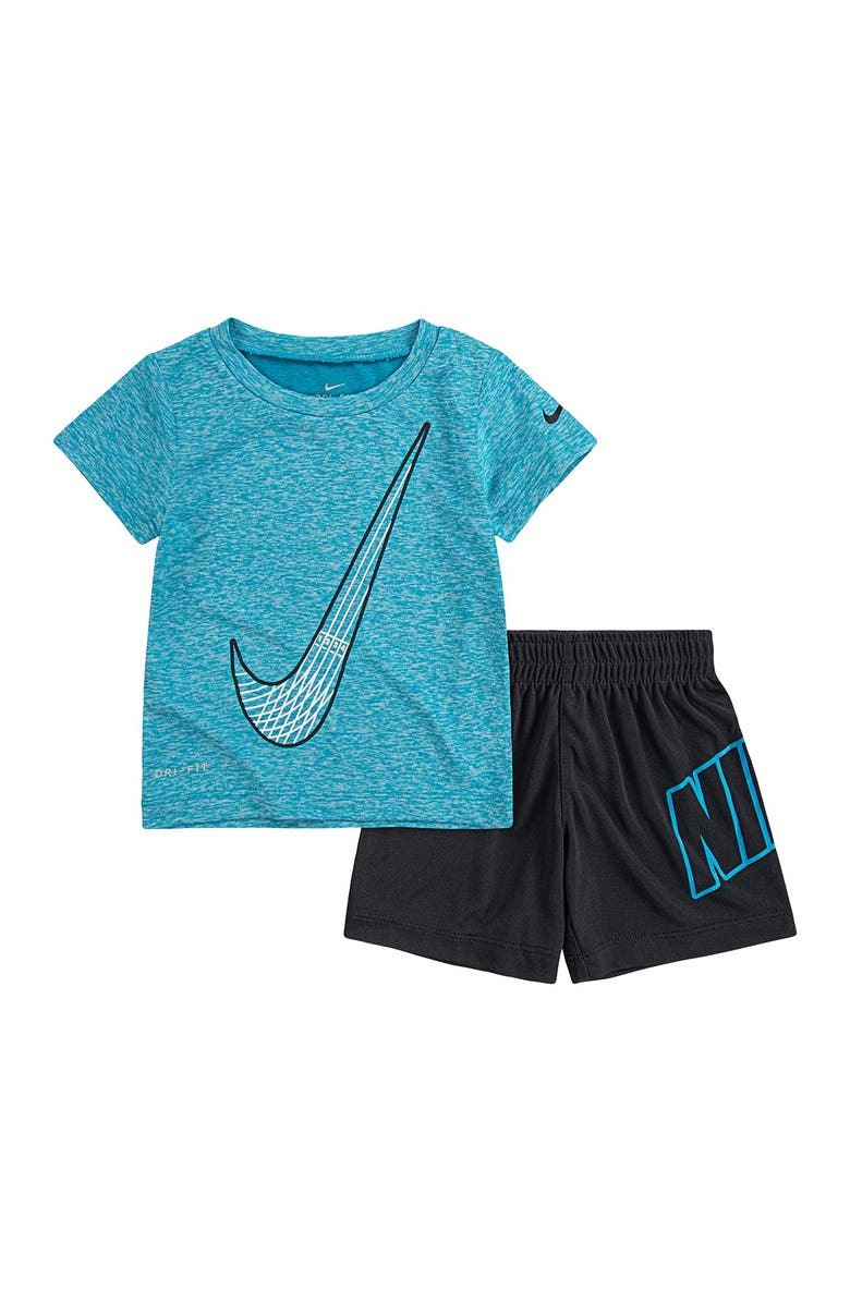NIKE NKB DF Dropsets Tee & Shorts 2-Piece Set, Main, color, TRENCHED