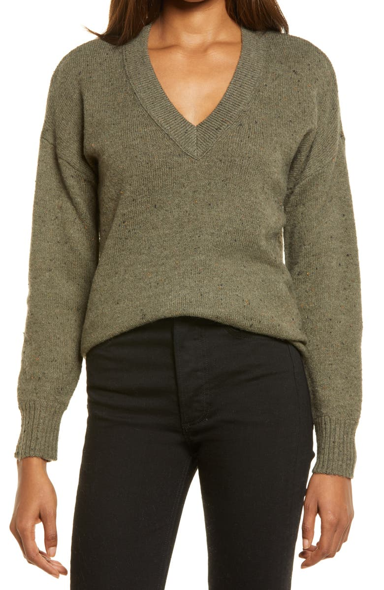 MADEWELL Donegal Bartlett Pullover Sweater, Main, color, DONEGAL FOREST