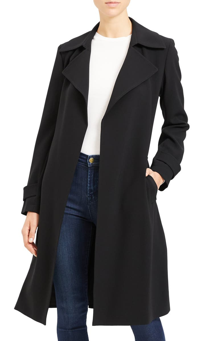 THEORY Oaklane Admiral Crepe Trench Coat, Main, color, 001