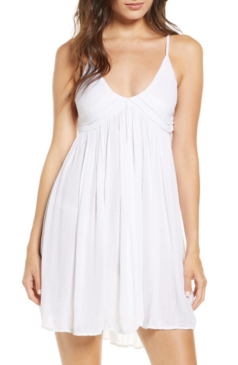 O'NEILL Saltwater Cover-Up Dress, Main, color, WHITE