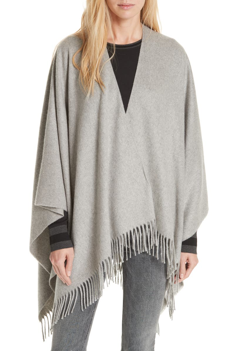 RAG & BONE Cashmere Poncho, Main, color, HEATHER GREY