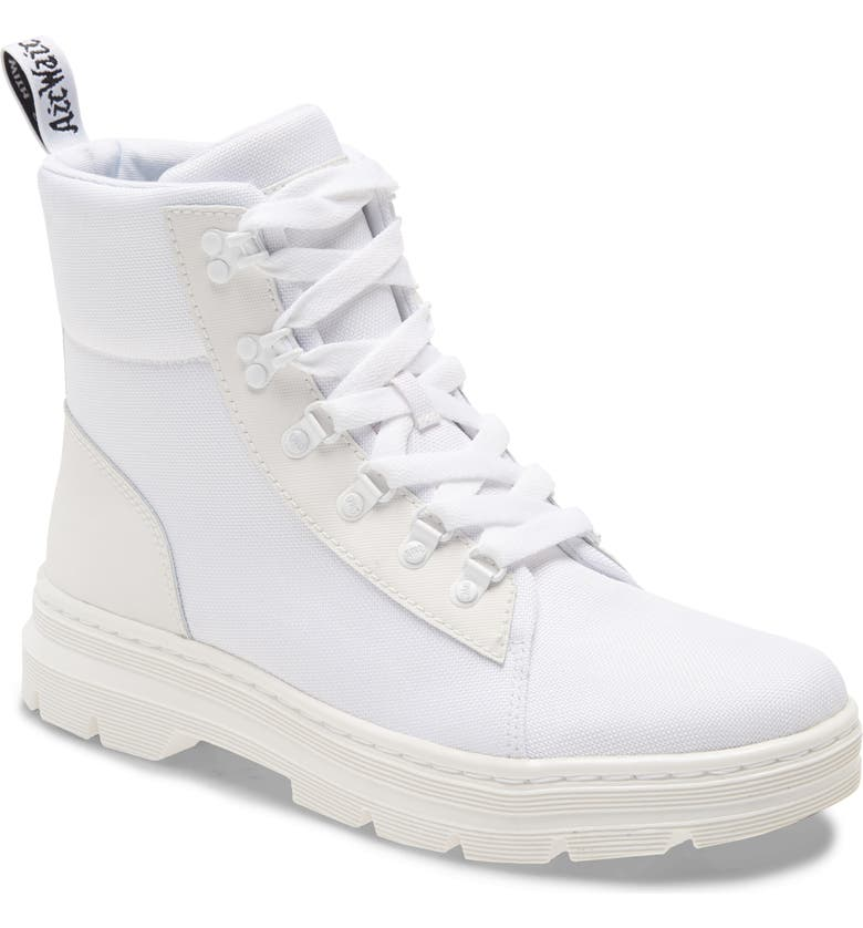 DR. MARTENS Combs Boot, Main, color, WHITE LEATHER