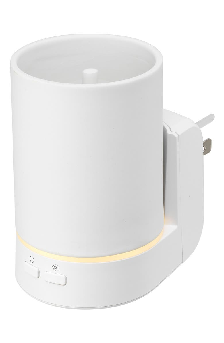 SERENE HOUSE Pure Wall Aromatherapy Diffuser, Main, color, WHITE