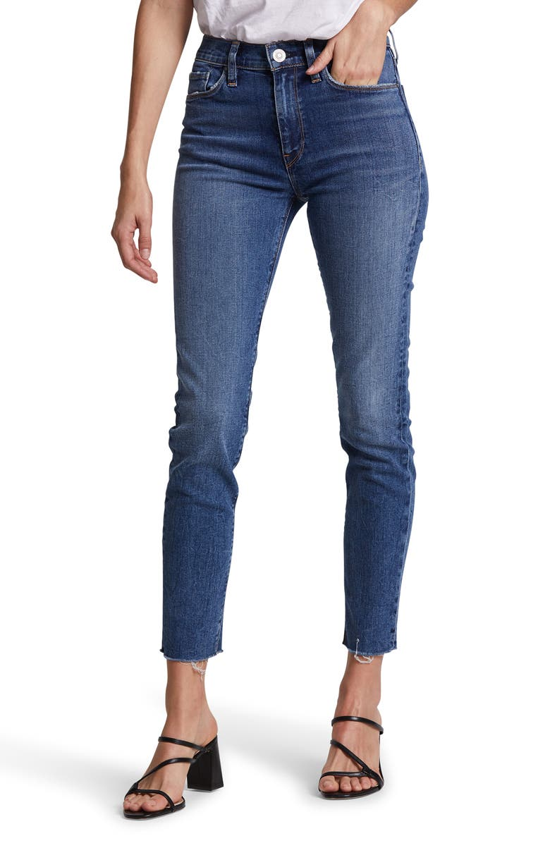 HUDSON JEANS Barbara Ripped High Waist Ankle Skinny Jeans, Main, color, 420