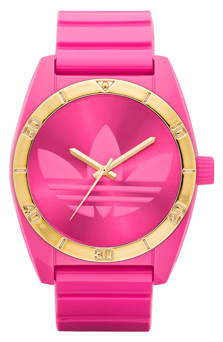 ADIDAS ORIGINALS 'Santiago' Neon Watch, Main, color, 650