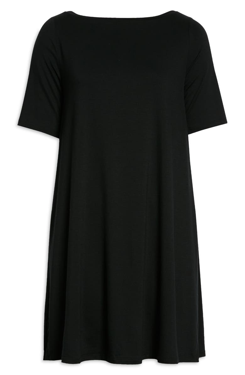 EILEEN FISHER Boat Neck Jersey Tunic, Main, color, BLACK