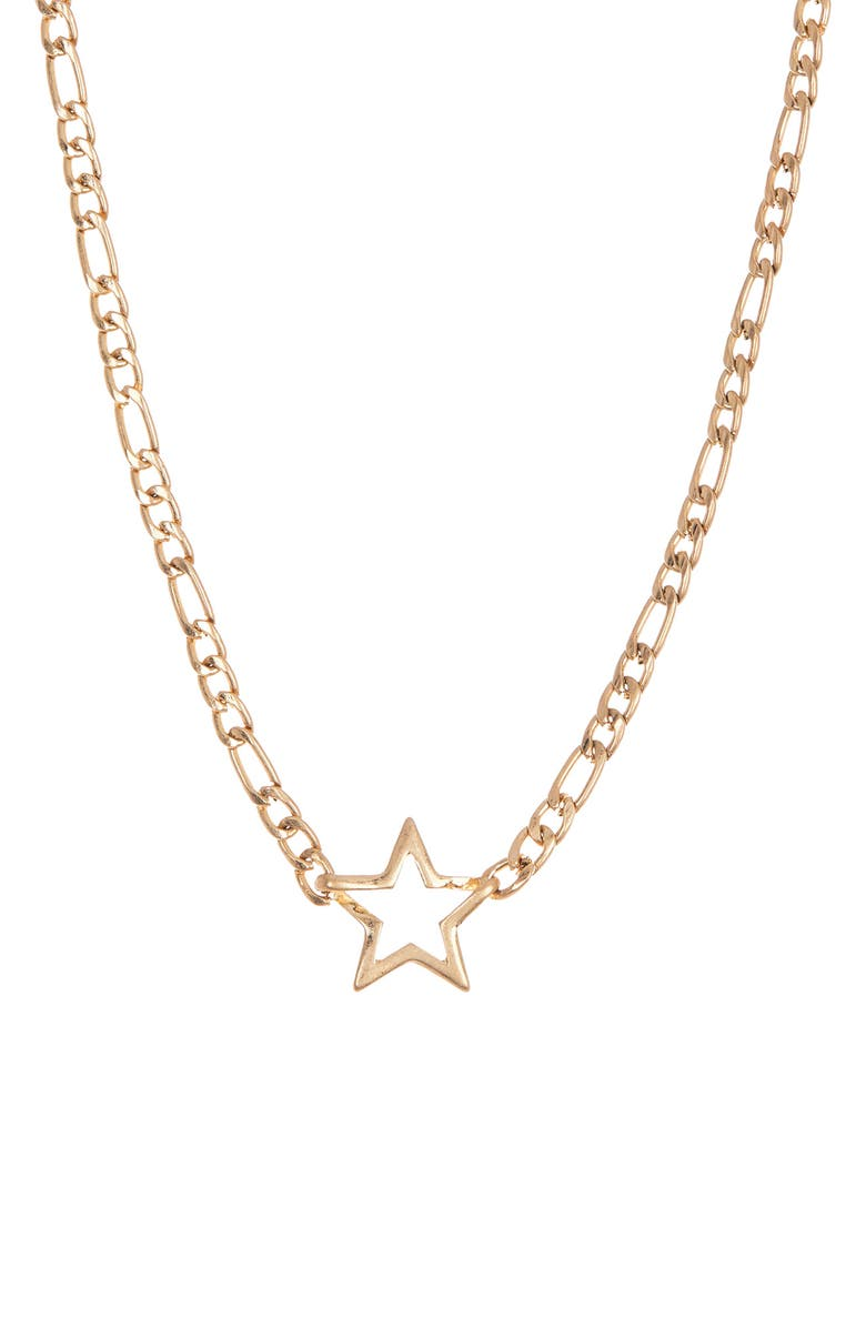 8 OTHER REASONS Star Pendant Necklace, Main, color, GOLD