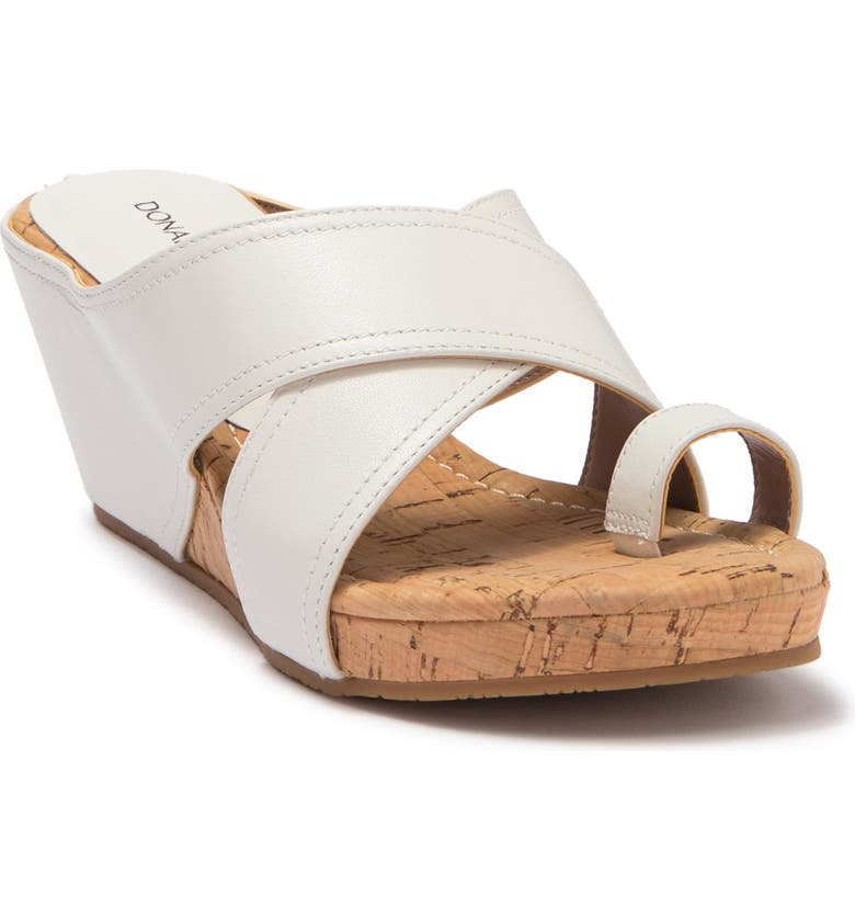 DONALD PLINER Geea Leather Sandal, Main, color, OFFWHITE