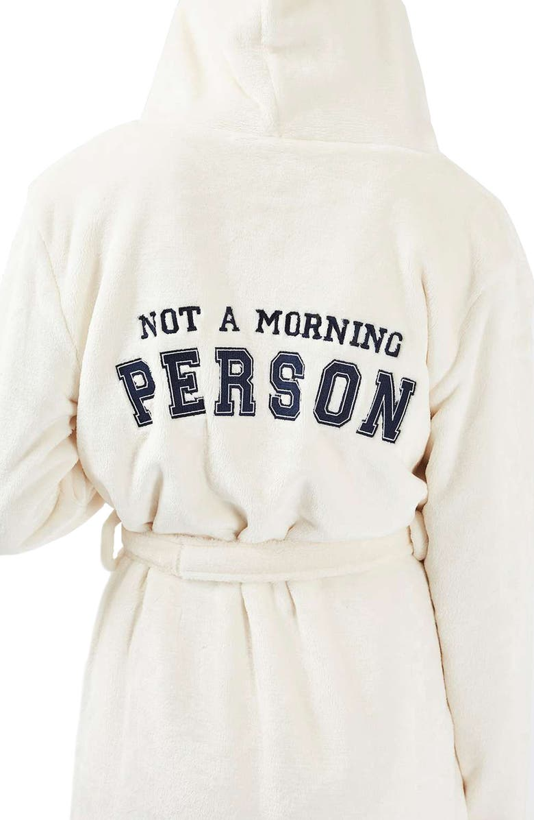 TOPSHOP Not a Morning Person Hooded Robe, Main, color, 900