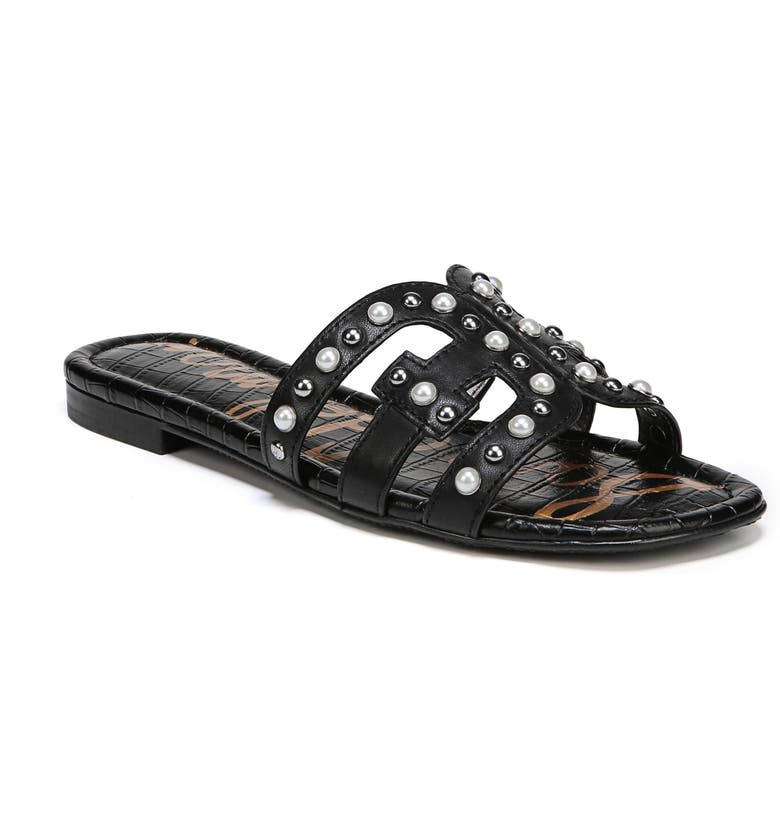 SAM EDELMAN Bay 2 Embellished Slide Sandal, Main, color, 001