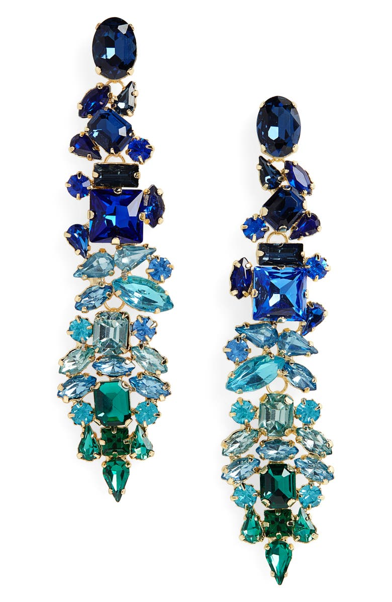 STELLA + RUBY Dynasty Statement Earrings, Main, color, 401