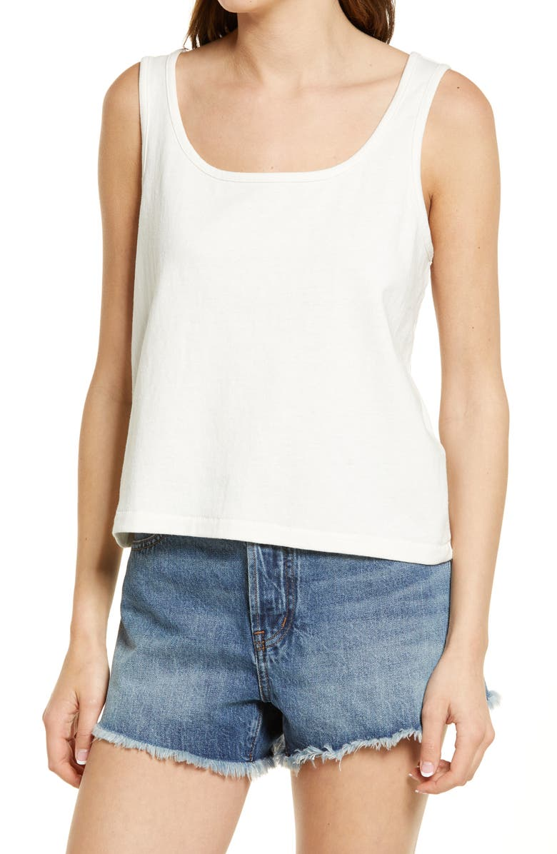 MADEWELL Women's Crop Tank, Main, color, LIGHTHOUSE