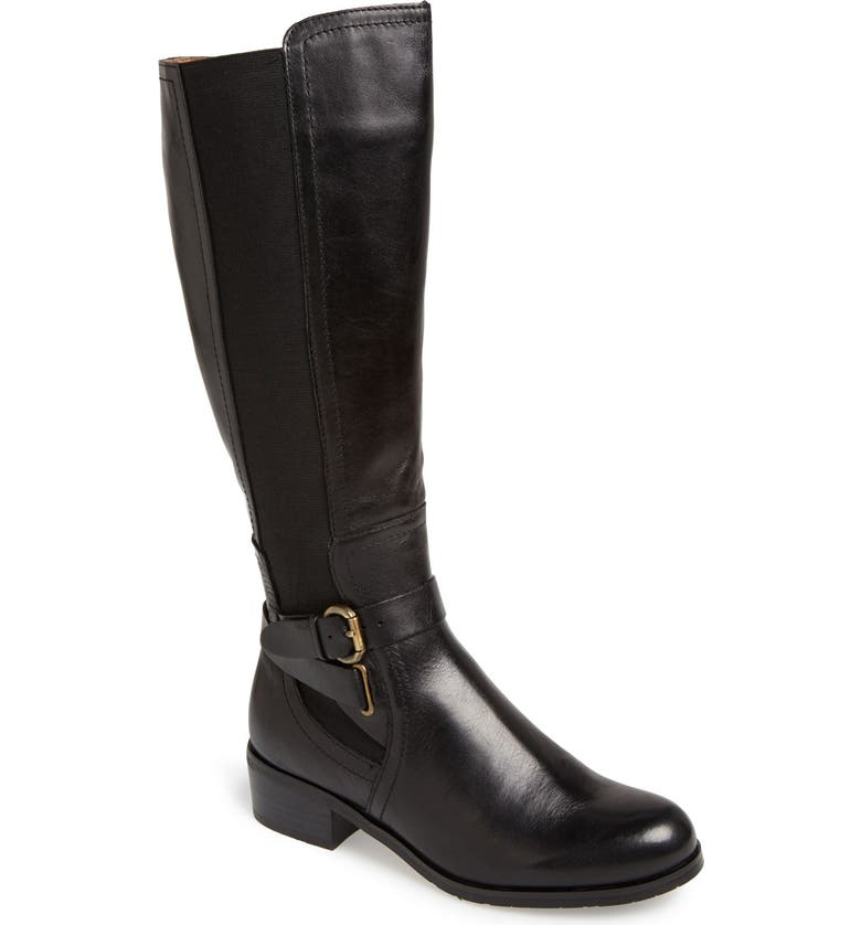 CORSO COMO 'Baylee' Wide Calf Leather Boot, Main, color, 001