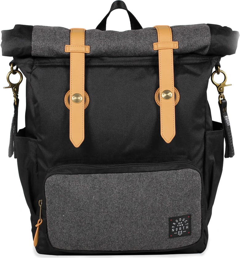 PRODUCT OF THE NORTH Westin Rolldown Diaper Backpack, Main, color, Black