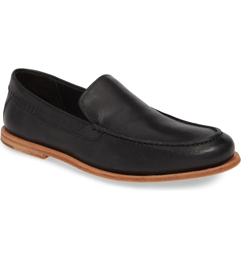 TIMBERLAND Tauk Point Venetian Leather Loafer, Main, color, BLACK LEATHER