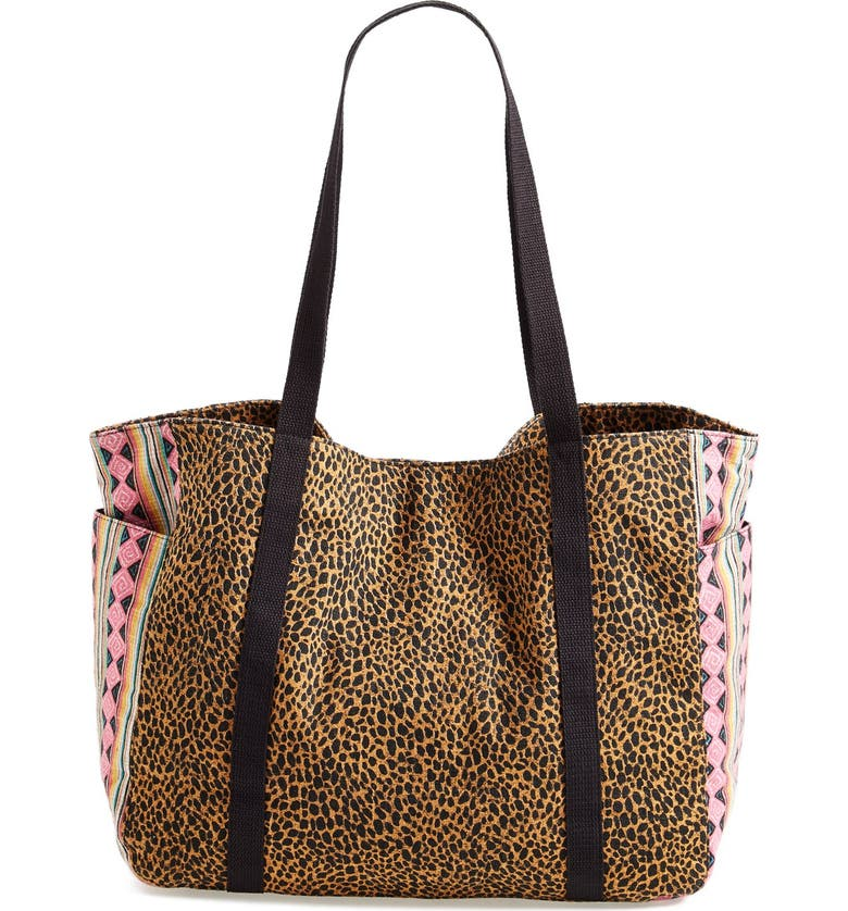 VOLCOM 'Absolutely Shore' Tote, Main, color, Black