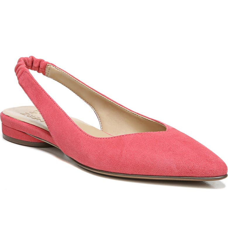 NATURALIZER Halo Slingback Flat, Main, color, CORAL BLUSH LEATHER
