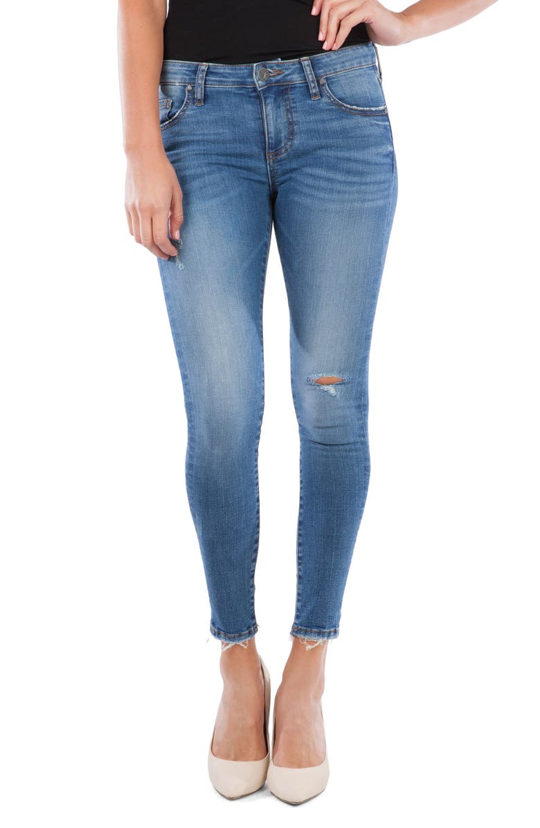 KUT FROM THE KLOTH Connie Ripped Ankle Skinny Jeans, Main, color, 435