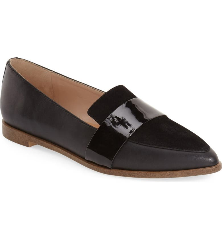 DR. SCHOLL'S 'Ashah' Pointed Toe Flat, Main, color, 001
